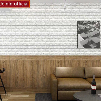 Wood pattern tower pattern 3D foam wall stickers living room bedroom children room TV background wall soft package wallpaper