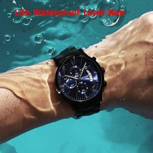 Image 3 - Belushi moda masculina relógios de quartzo analógico 30m à prova dwaterproof água cronógrafo esporte data aço relógio masculino relógios militares