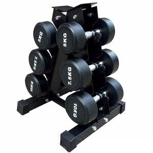 1 шт./компл., прочная стальная стойка для гантелей, съемная стойка для спортзала, 6 ручных упражнений, для фитнеса, тренажерного зала, подставк...
