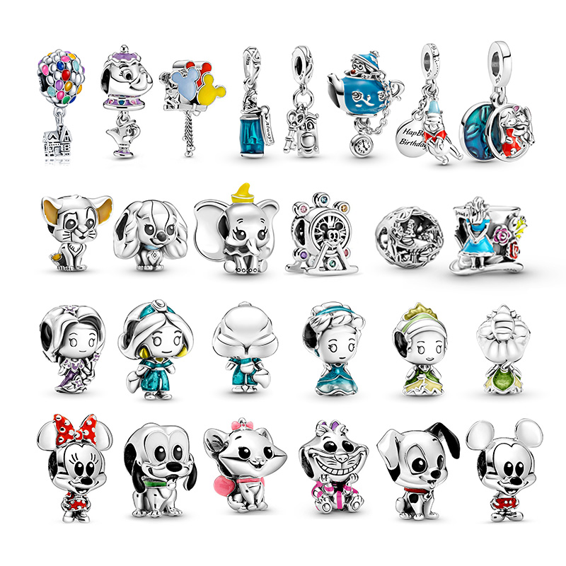 Hot Sale 925 Sterling Silver Cute Little Princess Series Charms Beads Fit Original Pandora Bracelet Making Fashion Jewelry Gift