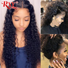 Wig 4x4 Lace-Wig Human-Hair-Wigs Wig-250-Density Curly Deep-Wave Brazilian RXY Remy