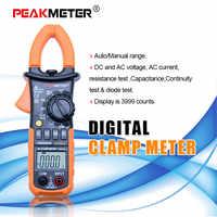 PEAKMETER 3 3/4 デジタル Ac クランプメーター 4000 カウント w/バックライト AC DC 電圧抵抗容量 + ダイオードテスター PM2008B