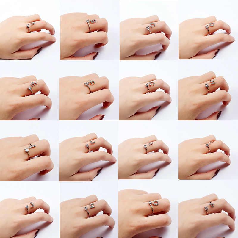 1 قطعة واط الفضة الحفر الكامل قابل للتعديل خواتم للنساء حفلة Favors فنجر مجوهرات هدية ل عيد الحب هدايا حفلات للتذكار