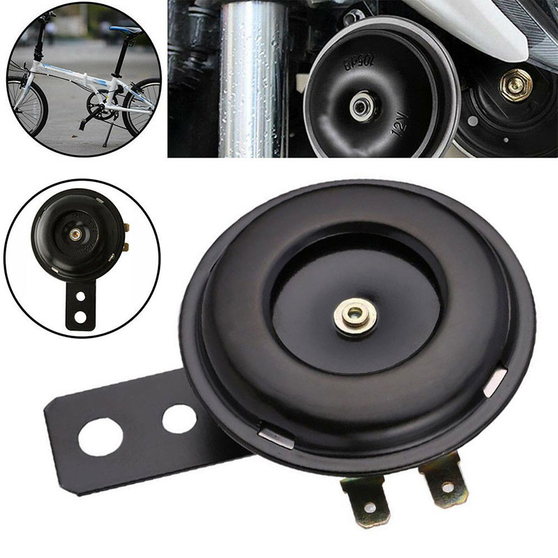 12V 65mm 105db Universal Motorcycle Electric Horn kit Waterproof Round Loud Horn Speakers for Scooter for Bike ATV