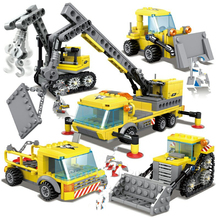 457Pcs City Engineering Heavy Crane Transporter Bulldozer Excavator Bricks LegoINGs Building Blocks Figures Toys Christmas Gifts ss 008 1 35 israel achzarit heavy armored transporter later model building kit toy