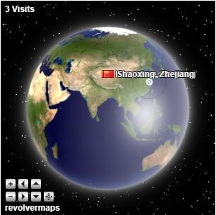 使用RevolverMaps给你的网站添加3D地球仪访客统计