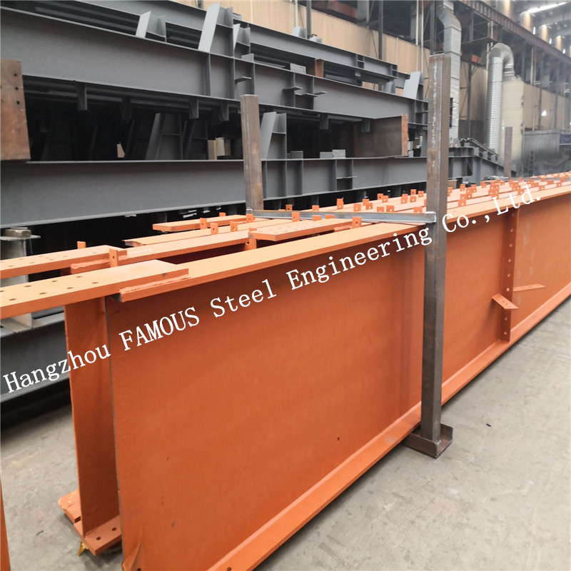 Prefabricated Q355b Strength Galvanized Structural Steel Fabrications Steel Member Surface Painting