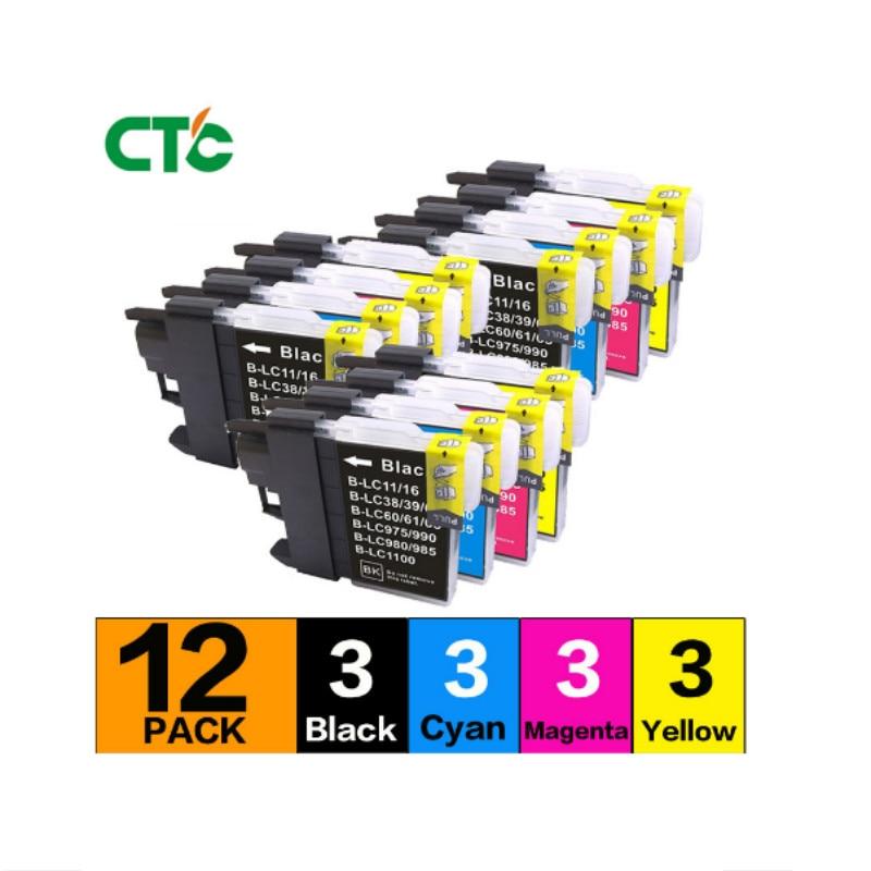 12P Compatible para brother MFC-250C cartucho de tinta de impresora MFC-290C 250C 490CW 790CW 990CW 5490CW 5890CN 6490CW 6890CD