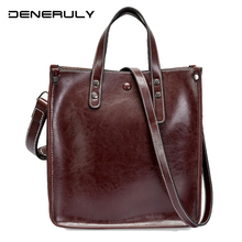 2019 Large Bag Ladies Genuine Leather Crossbody Soft Cow Handbag Set Fashion Simple Famous Designer Brand Bags Women