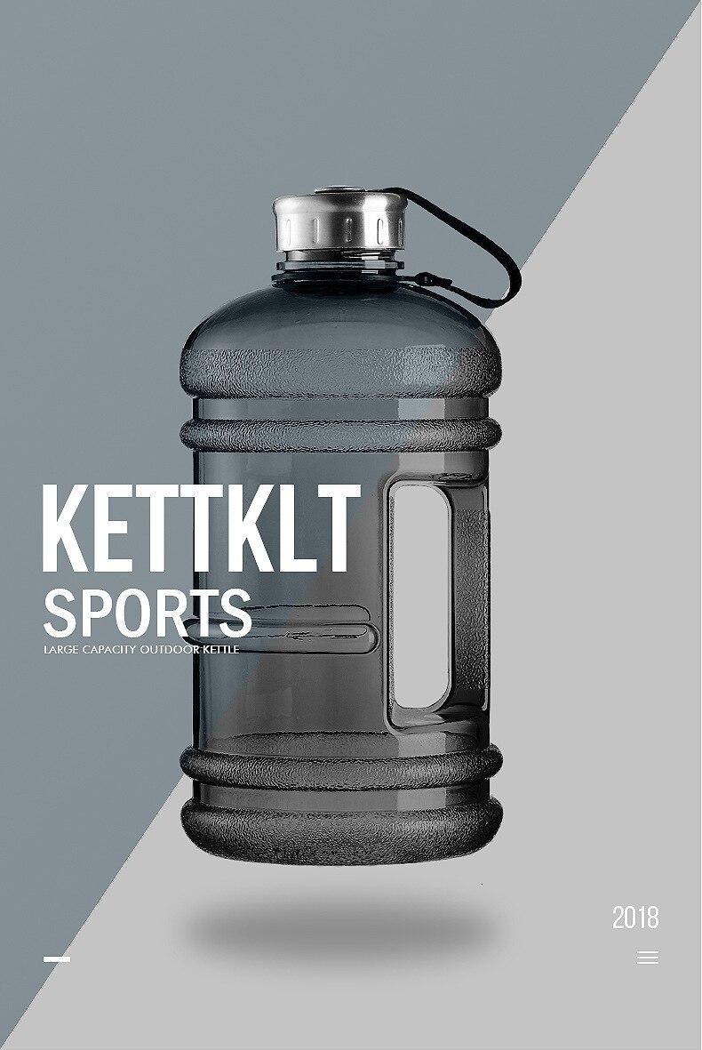 H3af2f4fd883946db8f14b44c2642b57e8 Soffe 2.2L Large Capcity 1/2 Gallon Water Bottle Bpa Free Shaker Protein Plastic Sport Water Bottles Handgrip Gym Fitness Kettle