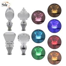 YOLU Acrylic Diamond Shape Touch Activated Multi-color LED Light Illuminated Gear Stick Shift Shifter Knob