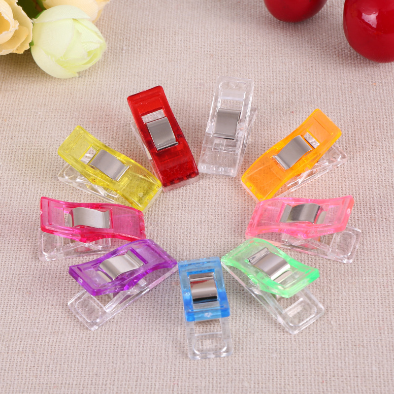 10 Pcs Mixed Plastic Wonder Clips Holder For DIY Patchwork Fabric Quilting Craft Sewing Knitting Clips Home Office Supply