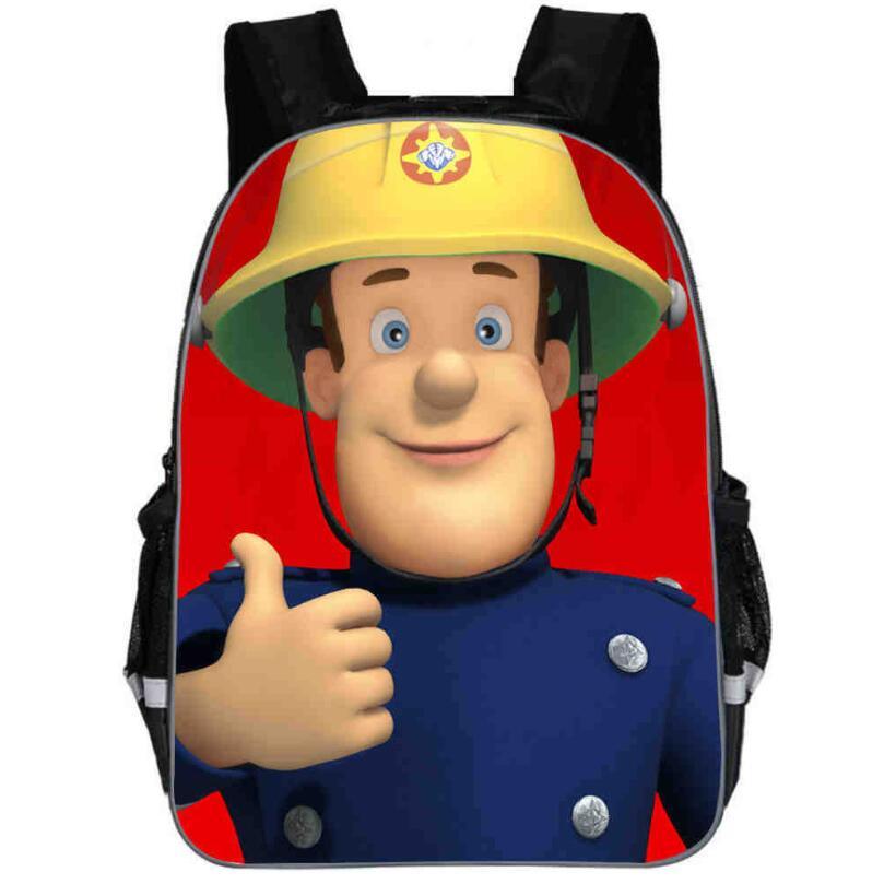 Popular Gifts For Kids Baby Round Backpack Bag For Children Cartoon Hero Fireman Sam Backpack Bag For Girls Boys School Bags