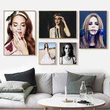Canvas Posters Lana Decor-Picture Art-Painting Silk Bedroom Prints Nordic Girl Music