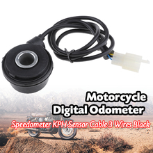 3-Pin Motorcycle Gauge Sensor Cable Digital Odometer/Speedometer/Tachometer Sensor Cable For Motorbike Motorcycle Accessories 1x sensor cable 2x magnet for motorcycle digital atv odometer speedometer tachometer