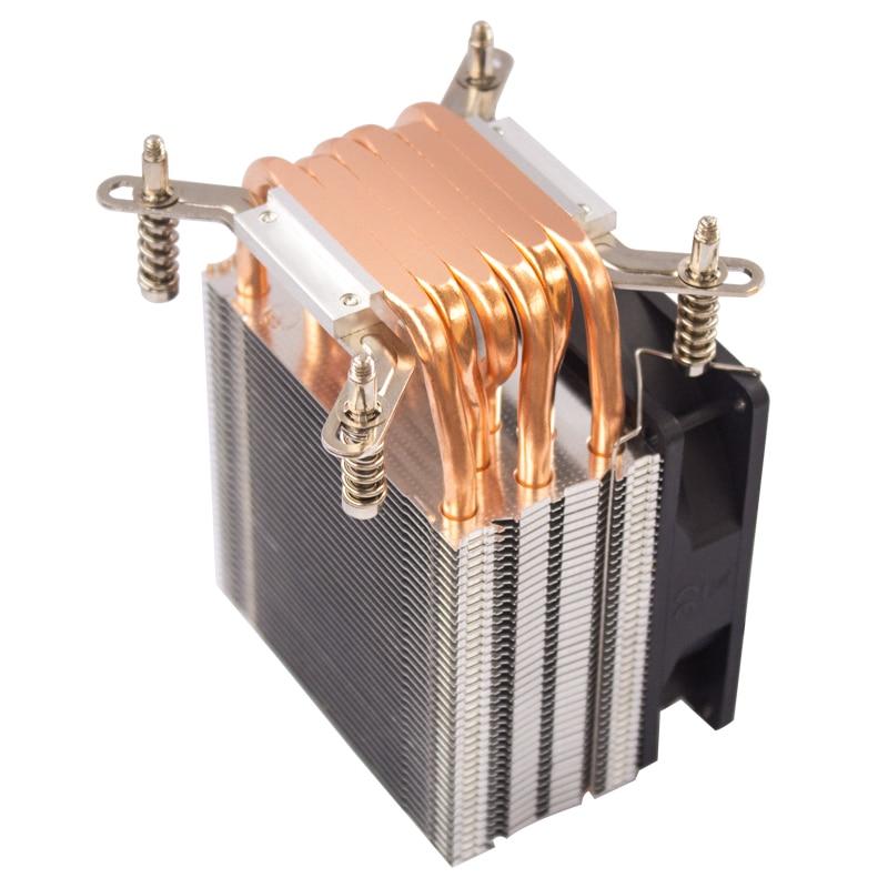 QITU 6 Heat Pipes CPU Cooler 3 Pin 4 Pin PWM 92mm PC quiet Fan  for Intel LGA 2011 2066 E3 E5 X79 X99 X299 9CM CPU Cooling Fan 6