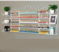 Large Nail Polish Storage Rack Wall Manicure Cosmetics Display Stand Modern Metal Nail Polish Storage for Nail Beauty Salon