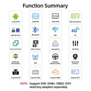 Image 2 - Bosion 2 din Android 10 차량용 DVD 플레이어 GPS Navi USB RDS SD WIFI BT SWC For Ford Mondeo 포커스 갤럭시 오디오 라디오 스테레오 헤드 유닛
