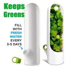 Mantém vegetais verdes frescos para 2x mais premium herb keeper e herb recipiente de armazenamento para utensílios de armazenamento de cozinha