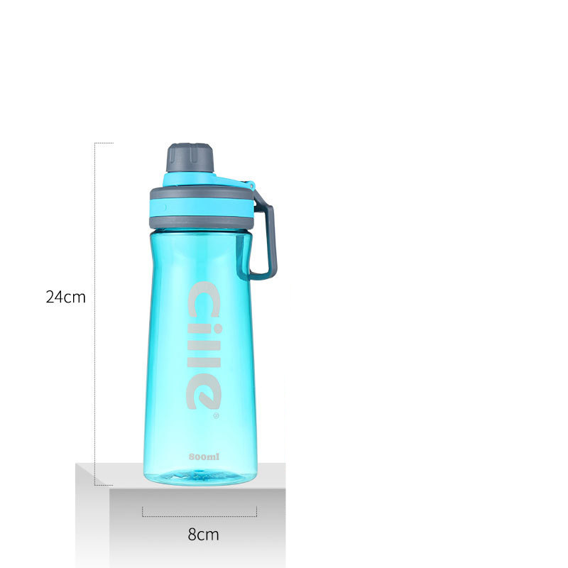 800ml BPA Free Classic large capacity my Water Bottle portable Sport outdoor Plastic kettle handle Juice with tea infuser bottle in Water Bottles from Home Garden