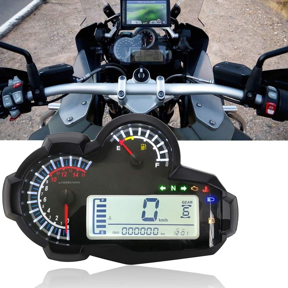 15000RPM moto universel LED compteur de vitesse compteur kilométrique numérique rétro-éclairage pour 2 4 cylindres pour BMW/Honda/Ducati/Kawasaki/Suzuki