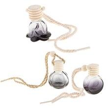 100Pcs Empty Refillable Car Perfume Bottle Car Air Freshener Perfume Diffuser Bottle Round