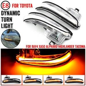 Image 1 - 2 pcs Turn Signal Mirror Light For Toyota RAV4 Highlander 2019 2020 Side Wing Mirror LED Dynamic Rearview Turn Signal Car Lights