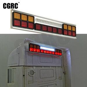 CNC алюминиевый сплав СИД задний верхний свет поворота стоп-сигнала для 1/14 Tamyia Rc грузовика Scania 620 56323 730 DIY части