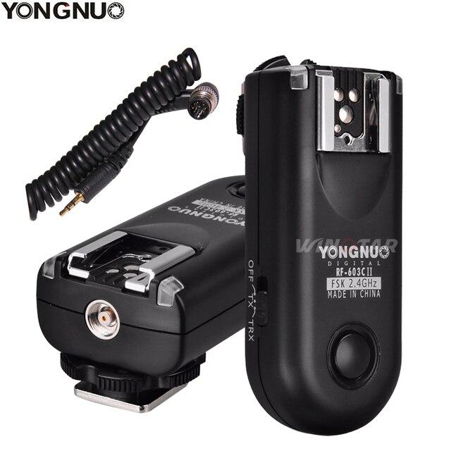 YONGNUO RF 603 II N1 Radio Wireless Remote Flash Trigger for Nikon D810A D810 D800E D800 D700 D500 D5 D4 D3 D850 D300S MC 30