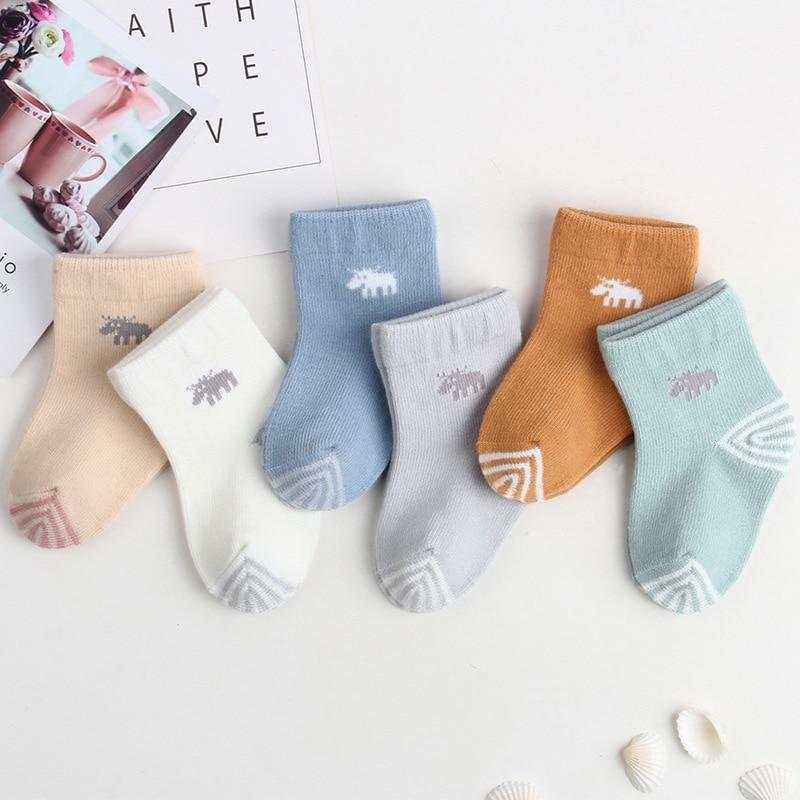 CHILDREN'S Socks Autumn And Winter New Style Cartoon Relent Baby Socks Korean-style Tube Newborns Baby Cotton Socks