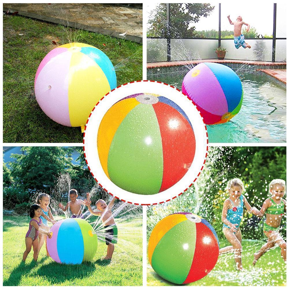 Diameter 75cm Inflatable Water Spray Ball Sprinkler Baby Water Kids Hot Splash Toy Beach Balloons Summer Selling Outdoor To X5Z8