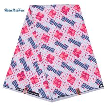 Polyester Wax Prints Fabric New binta real African Ankara for Party Dress 6 yard FP6183