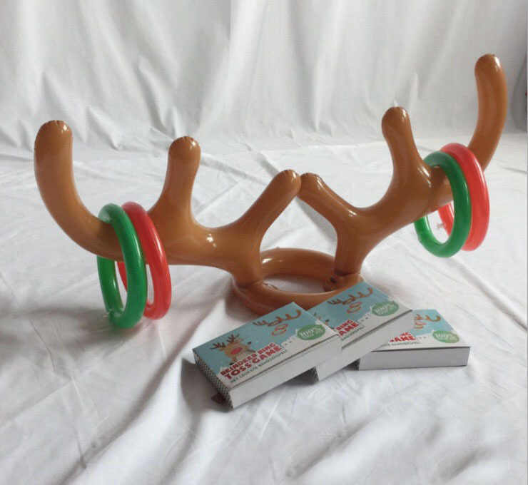 Inflatable Antlers กวางหัวแหวน Elk Horn Headband โยนโยนวงกลมของเล่น Props