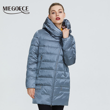 Warm Jacket Women Coats Hood And Windproof Winter MIEGOFCE with Collection Stand-Up-Collar