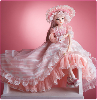 1/3 BJD Dolls 60CM 18 Ball Joints Doll With Full Outfits Clothes Shoes Wig Makeup Toys For Girls Collection Best Birthday Gifts цена 2017