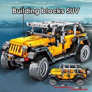 Image 5 - MMloveBB Creator Mechanical Pull Back Jeeped 오프로드 차량 모델 빌딩 블록 ing City Technic 자동차 벽돌 장난감 소년 용