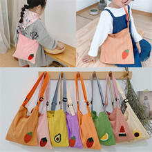 Children Girl Kids Coin Purse Bag Hobos Mini Small Cute Cotton Fabric Fruits Solid Korean Accessories Wholesale Gifts