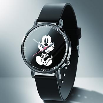 Reloj femenino de cuarzo de Mickey para hombre y mujer, relojes de...