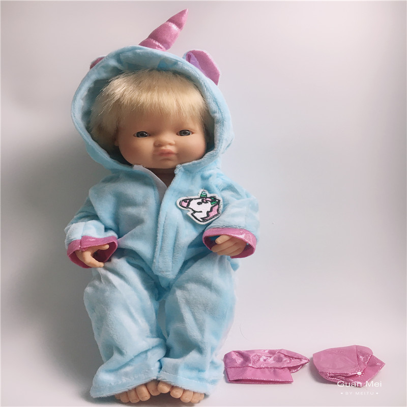 Fit 16 inch <font><b>42cm</b></font> <font><b>Doll</b></font> <font><b>Clothes</b></font> Accessories Born New Baby Pink Blue Elk Unicorn Flamingo Suit For Baby Birthday Festival Gift image