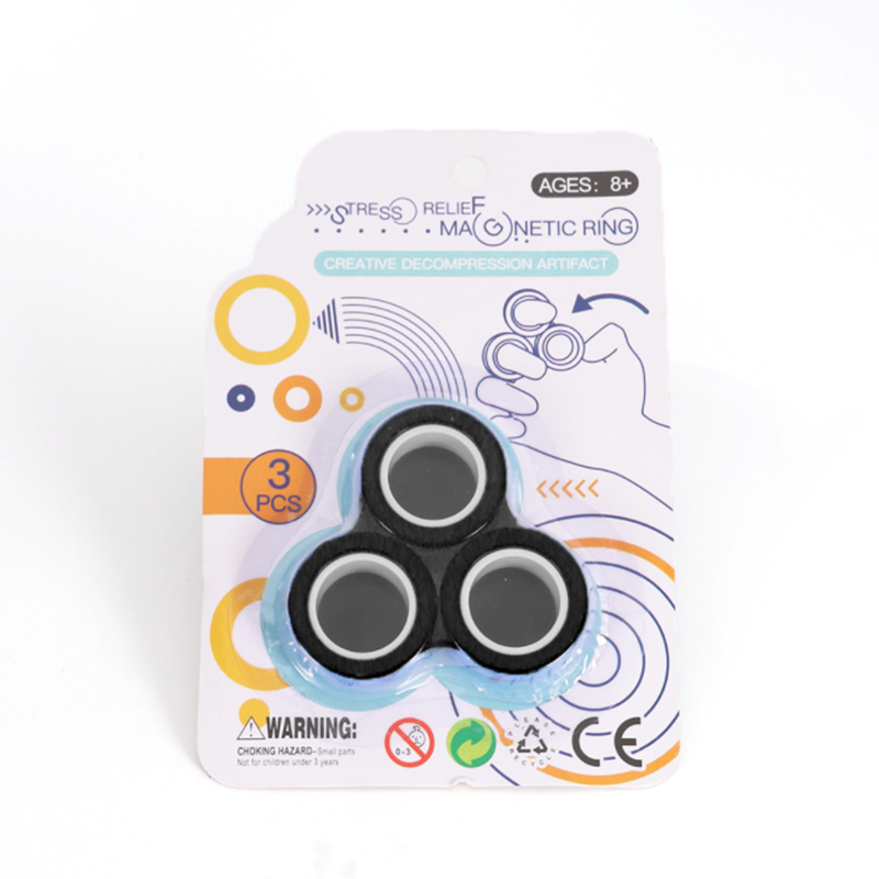 Toy Ring Finger-Spinner Magnetic-Rings Fidget Decompression Anti-Stress Relief Magic img4