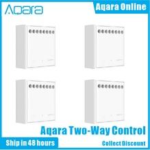 Original Aqara Zwei-weg Control Modul Drahtlose Relais Controller 2 Kanäle Arbeit Für Smart Xiaomi Hause APP Und Apple home Kit