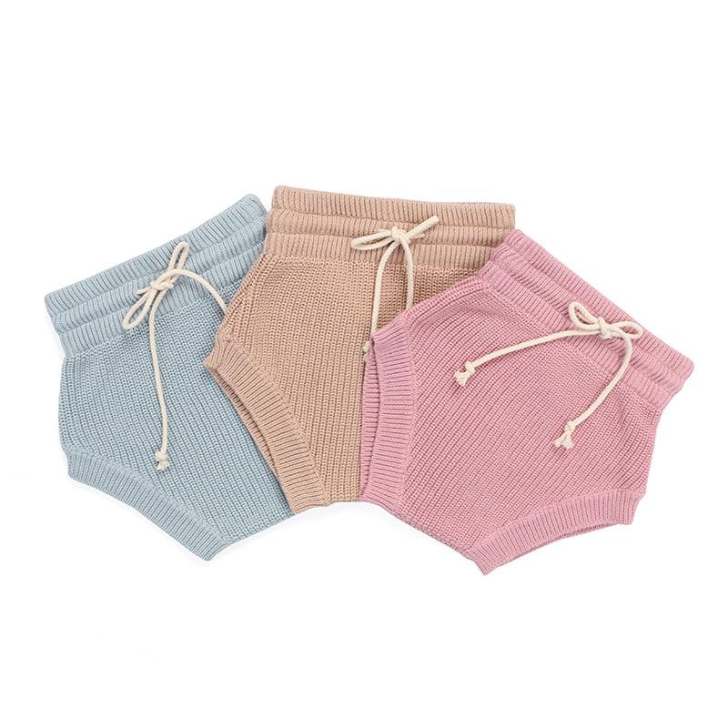Kaiya Angel 2020 Baby Bloomer Summer Girls Cotton Diaper Cover Newborn Soild Sweater Shorts Infant Unisex Retail Bloomer