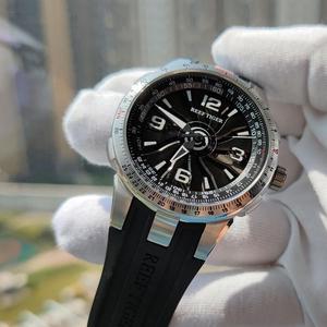 Image 4 - 新しいリーフ虎/rt軍は男性鋼腕時計ラバーストラップ旋回ダイヤルRGA3059