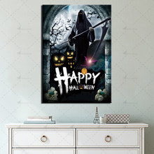 Modular Picture Halloween Posters and Prints Wall Art Home Decor for Living Room 1 Piece Horror Pictures Canvas Painting(China)