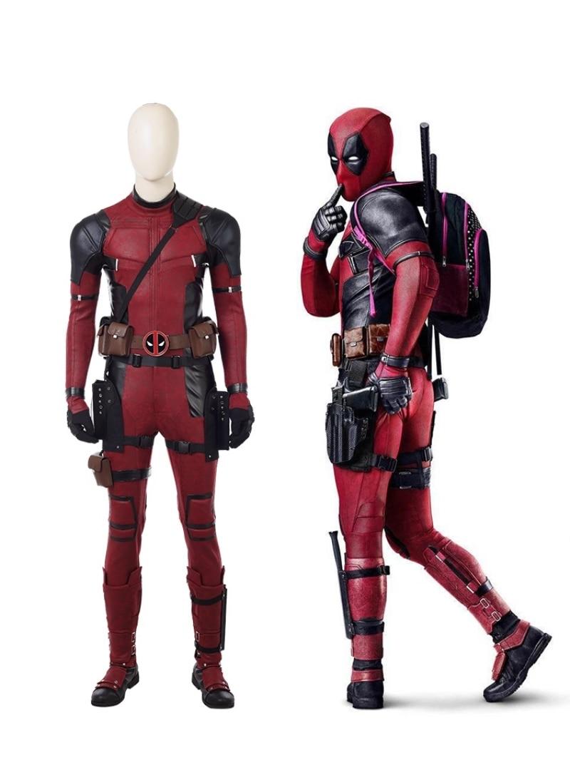 Deadpool 2 Once Upon A Deadpool Costume Wade Winston Wilson Cosplay Jumpsuit Adult Halloween Carnival Superhero Costumes