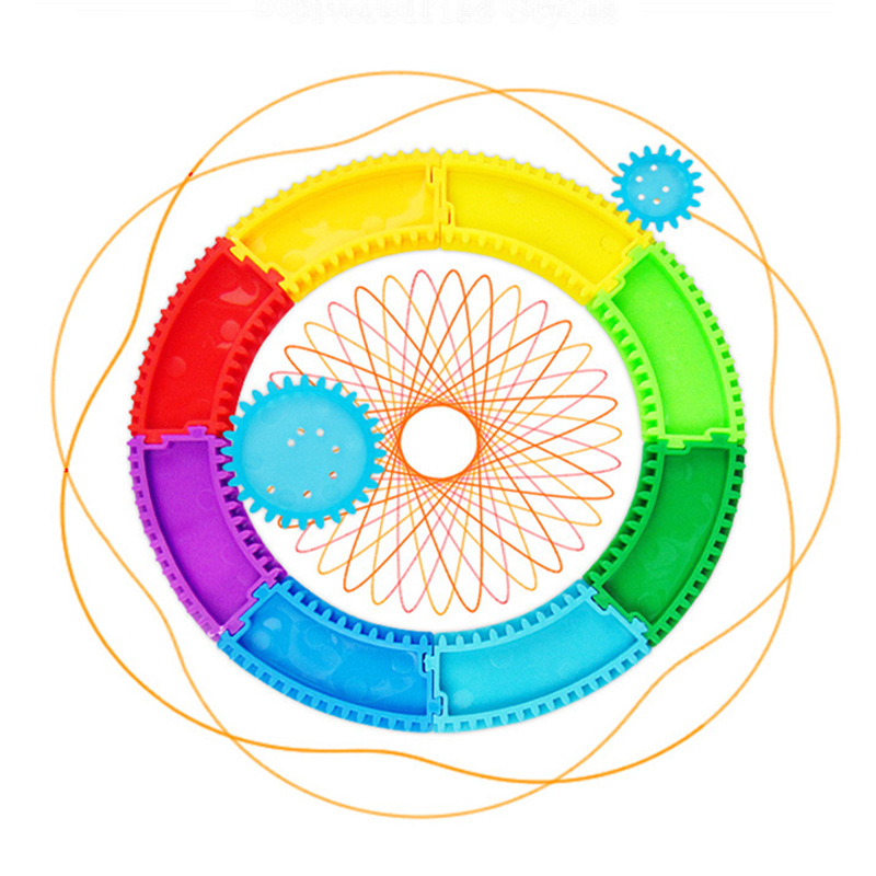 Multi-functional Flexible Joy Camera Track Spirograph Package Children'S Educational Creative Fine Art Painted Flowers Qu Xian C