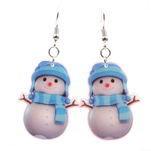2019 New Christmas Snowman Pendant Earrings Personality Cute Stud Earrings Gifts Women's Decorations Hot Sale Explosions