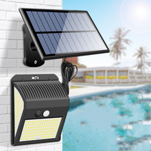 New Split Solar Lamp Indoor Home Human Body Induction Outdoor Waterproof Courtyard Wall Lamp