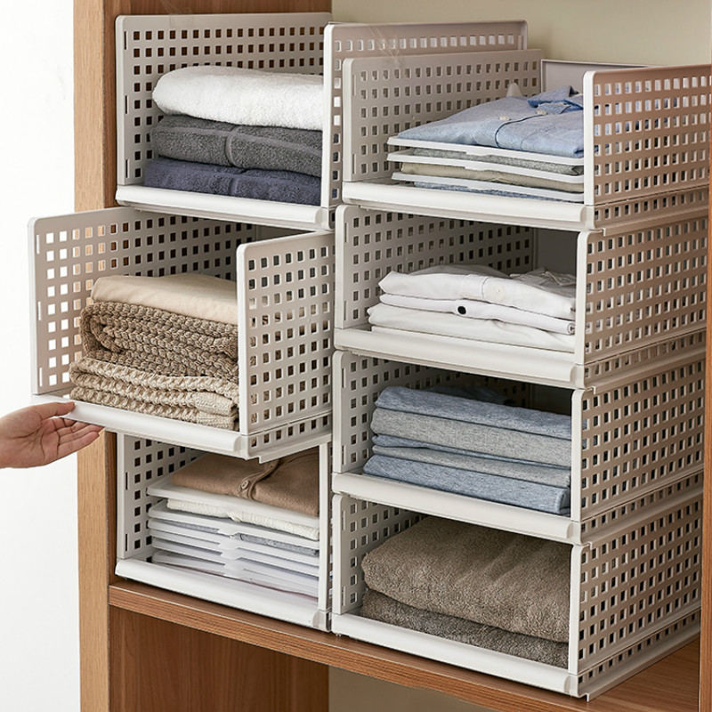 Multi-size Clothing Organizer Multi-layer Home Storage Box  Closet Organizer For Scarfs Socks Shelf Pf8315