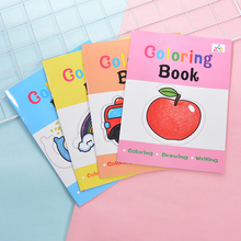 4PCS drawing books Scratch Color DIY Drawing doodles for babies Graffiti Book With Pen Blank black Sketch Book for kid цена